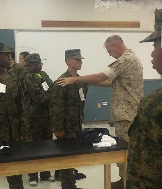 Olympic Heights Inaugurates U.S. Marine Corps JROTC Program