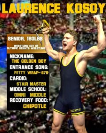 LAURENCE KOSOY WINS WRESTLING STATE CHAMPIONSHIP!