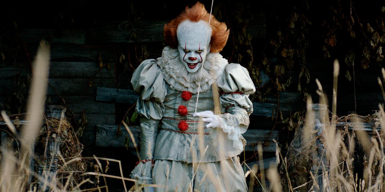 Bill Skarsgard plays the terrifying Pennywise the Clown in Stephen King's IT.