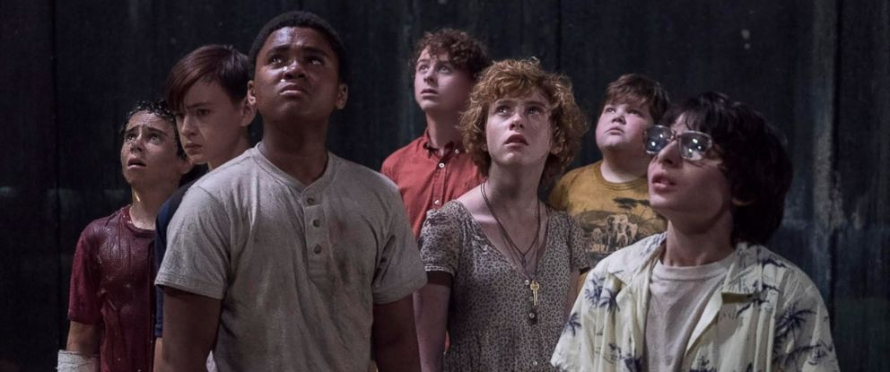 The Losers Club from the 2017 film adaptation of Stephen King's IT