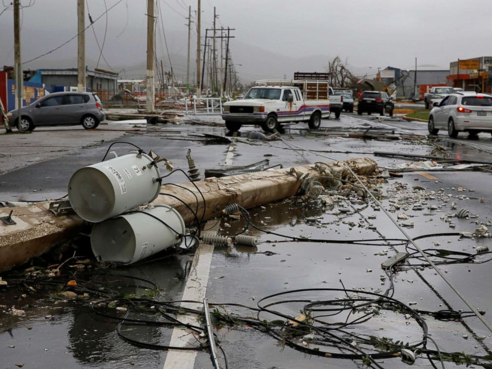 Scenes of devastation such as this were common across Puerto Rico as Hurricane Maria obliterated the island's power grid.