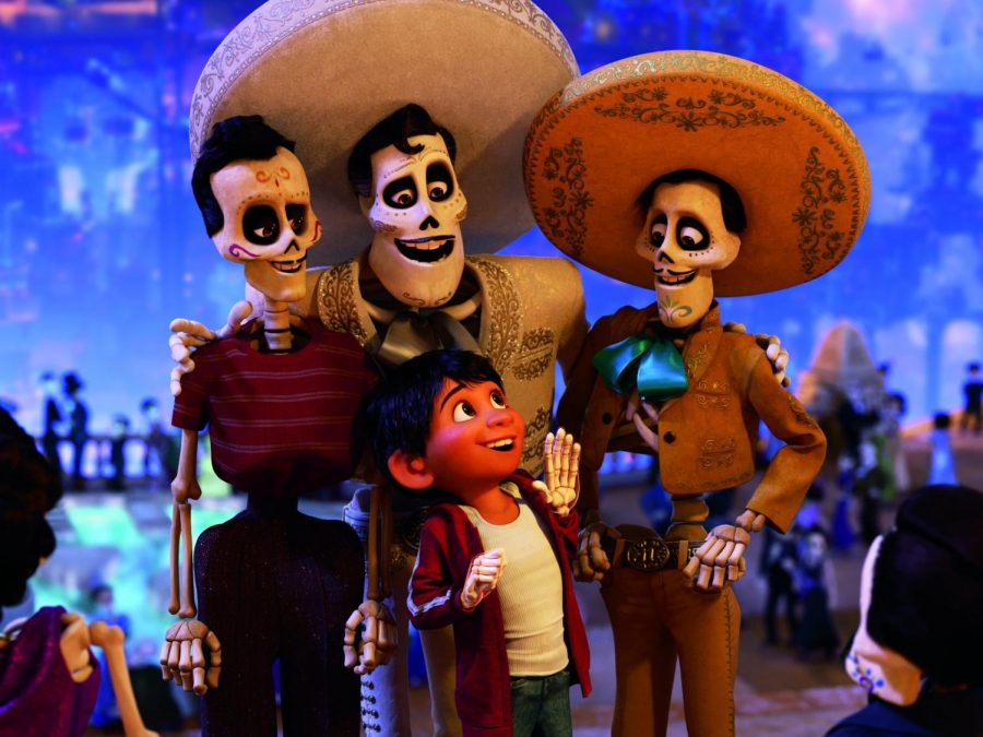 Coco tells the story of a boy who has musical aspirations who accidentally crosses over to the Land of the Dead.