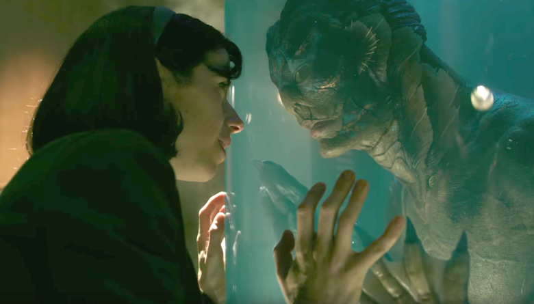 Sally Hawkins and Doug Jones shine as love interests in Guillermo del Toro's The Shape of Water.