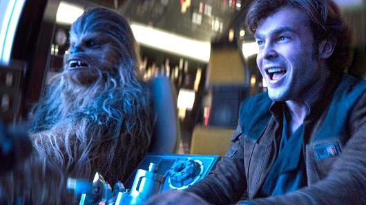 Alden Ehrenreich (right) plays the young Han Solo in the latest of the Star Wars installments, Solo, A Star Wars Story.