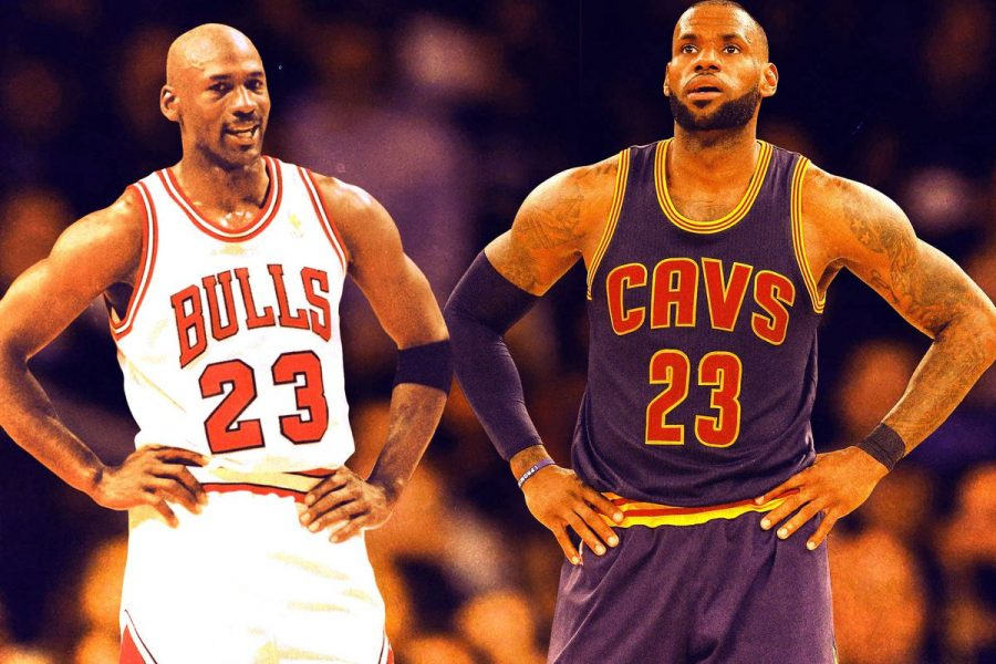 Michael+Jordan+%28left%29+is+considered+the+G.O.A.T.+by+most%2C+but+LeBron+James+definitely+deserves+consideration.