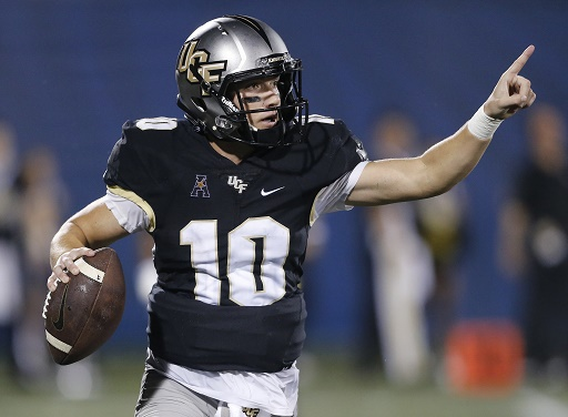 UCF's junior quarterback McKenzie Milton looks to lead his team to the promised land of a CFP top-four ranking.