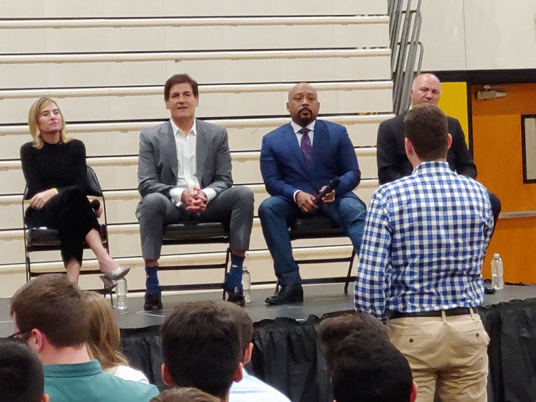 "TV's Shark Tank ""Sharks"" Visit Olympic Heights"