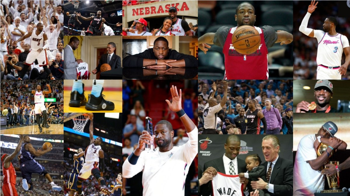 cccb9c1ef A Look Back on the Career of Miami Heat Legend Dwyane Wade As He Nears  Retirement