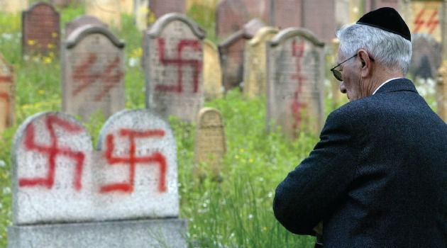 Just one example of the rise in global anti-Semitism can be seen in the recent desecration of tombstones in a Jewish cemetery in France.