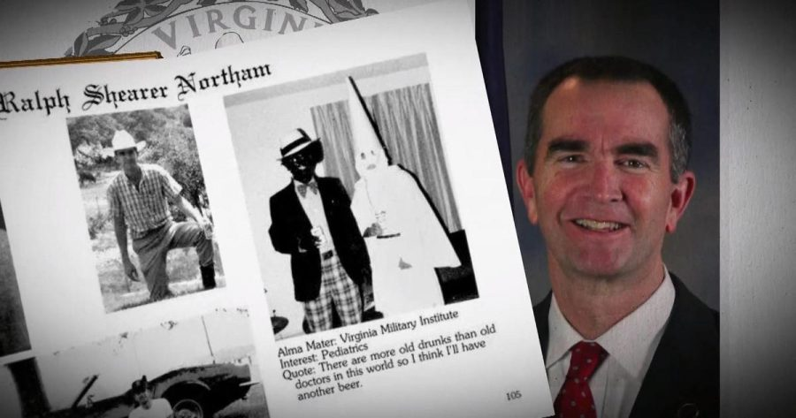 Virginia+governor+Ralph+Northam+%28right%29+came+under+fire+when+his+medical+school+yearbook+page+allegedly+showing+him+in+blackface+became+public.