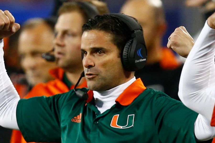 New+Univ.+of+Miami+head+football+coach+is+making+changes+to+bring+the+team+back+to+national+prominence.+