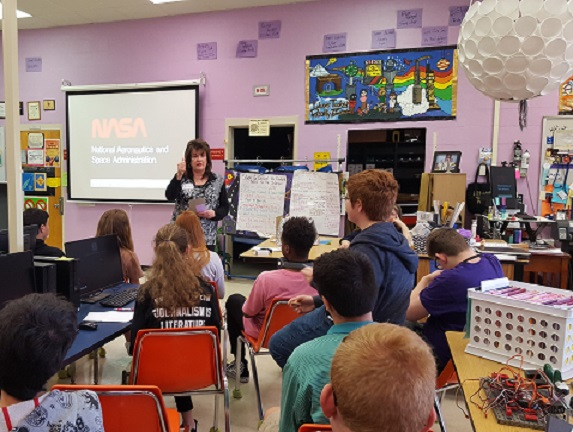 Ms. Carole Perry captivated Olympic Heights Engineering Students with her presentation.