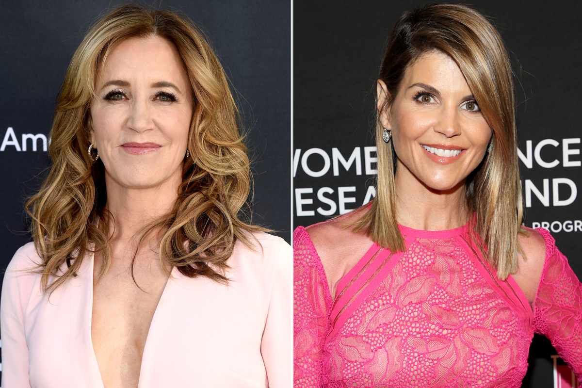 Actresses Felicity Huffman (left) and Lori Laughlin have been charged with felonies for their roles in the college admissions cheating scandals.