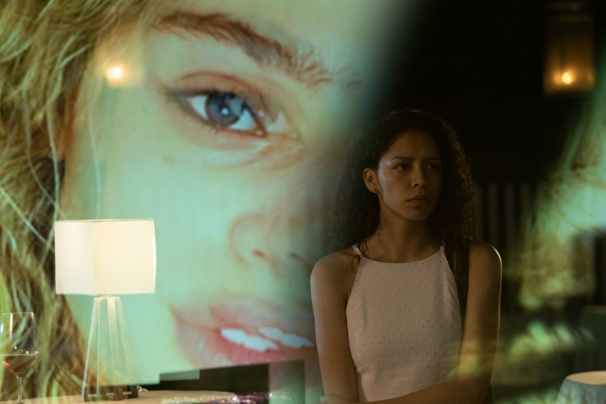 Sivan Alyra Reid (foreground) plays Sasha Yazzi, a Native American teenager who begins experiencing strange events after  a heart transplant. Lilliya Scarlett Reid (background) plays the heart donor, Rebecca LeFevre.