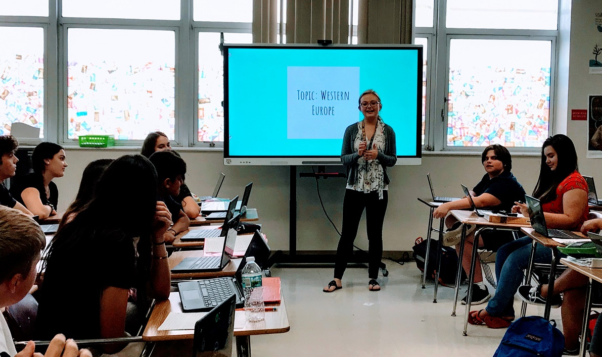 AP World History teacher Ms. Chelsea Baer saw a 16 percent improvement in her test scores from 2018 to 2019.