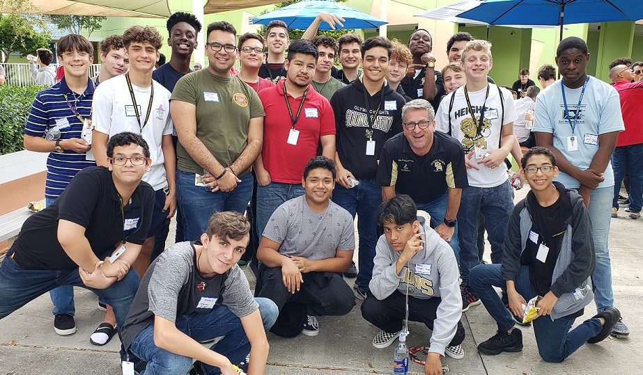 Olympic Heights choir members at the Men's Day held at Bak Middle School of the Arts on Sept. 19.