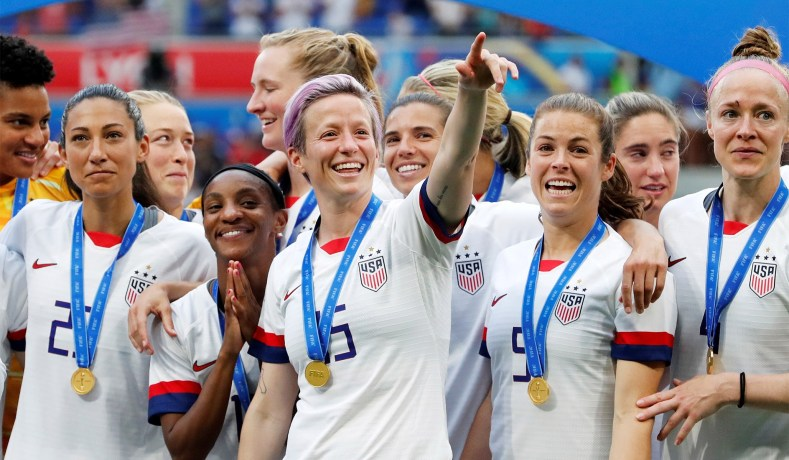 The+U.S.+Women%27s+National+Soccer+Team+after+winning+the+2019+World+Cup+championship.