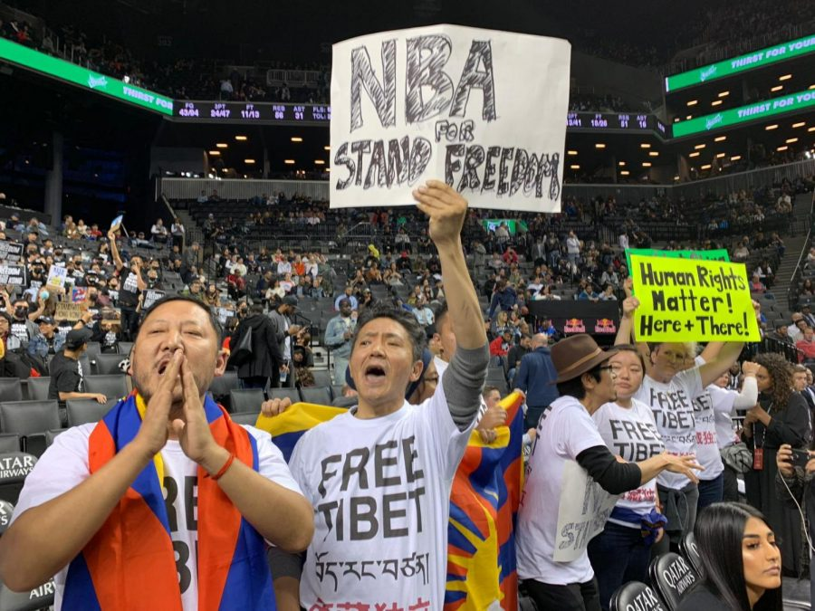 The+NBA+will+have+to+deal+with+its+own+protesters+after+its+handling+of+Houston+Rockets+general+manager%27s+tweet+on+Hong+Kong+protests.