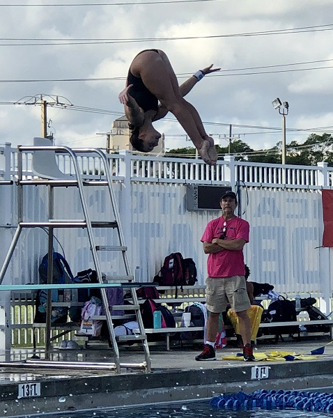 Olympic Heights diver Danielle Anglin will be competing for a State Championship after finishing in first place at the Region 4-3A Championships.