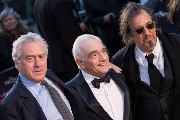 Netflix%27s+most+ambitious+original+film+project+The+Irishman%2C++directed+by+Martin+Scorsese+%28center%29+and+starring+Robert+DeNiro+%28left%29+and+Al+Pacino+%28right%29%2C+is+at+the+center+of+a+showdown+between+Netflix+and+major+movie+theater+chains.