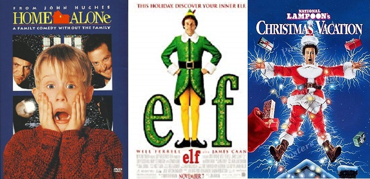 Which are the best of the holiday movies?  We have your top five right here!
