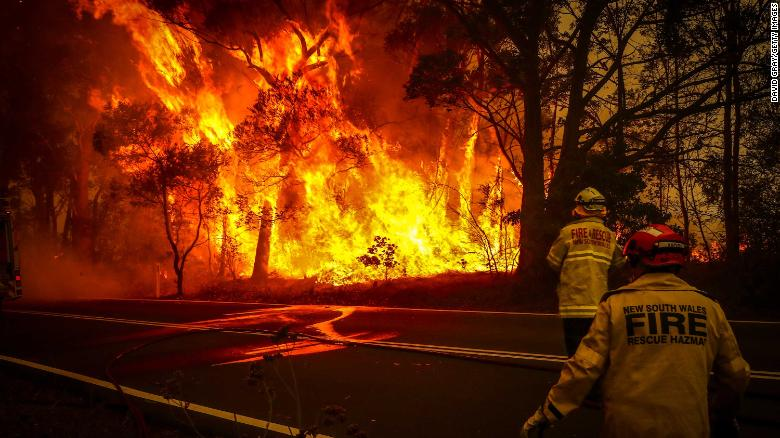 Firefighters have spent the past two months battling widespread bush fires in Australia.