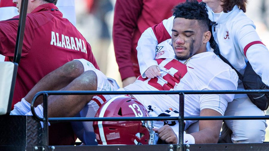 Injuries+to+college+athletes%2C+such+as+the+season+ending+hip+injury+Alabama+quarterback+Tua+Tagovailoa+suffered+in+2019%2C+can+be+very+costly+for+the+player+on+several+different+levels.