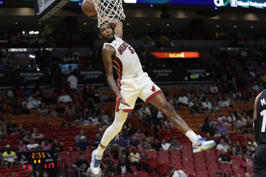The+Miami+Heat%27s+Derrick+Jones%2C+Jr.+was+the+somewhat+controversial+winner+of+the+NBA%27s+2020+Slam+Dunk+Contest.