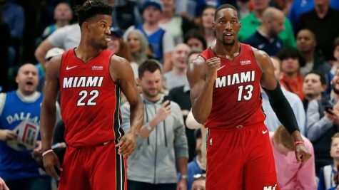 Jimmy Butler (#22) and Bam Adebayo (#13) spearheaded the Miami Heat drive to the NBA championship finals.