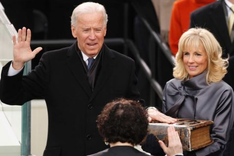 Security will be heightened for the Jan. 20 inauguration of Joe Biden as the 46th president of the United States. He is pictured here with his wife, Dr. Jill Biden, at his 2013 inauguration for his second term as vice-president.