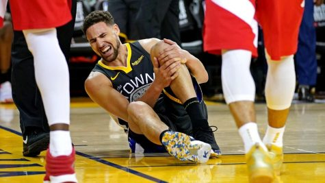 Golden State Warrior Klay Thompson suffered a torn achilles before the 2020-21 season even started, leading some to speculate that he was rushed back too soon from a torn ACL injury.
