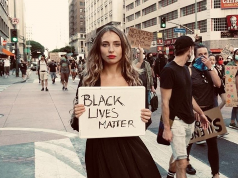 Social media influencer Kris Schatzel has come under criticism for seemingly using the Black Lives Matter movement to further her celebrity.