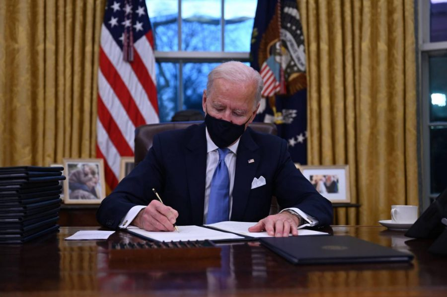 President Joe Biden has signed over 50 executive orders in his first month in office, many of them undoing Trump-established policies.