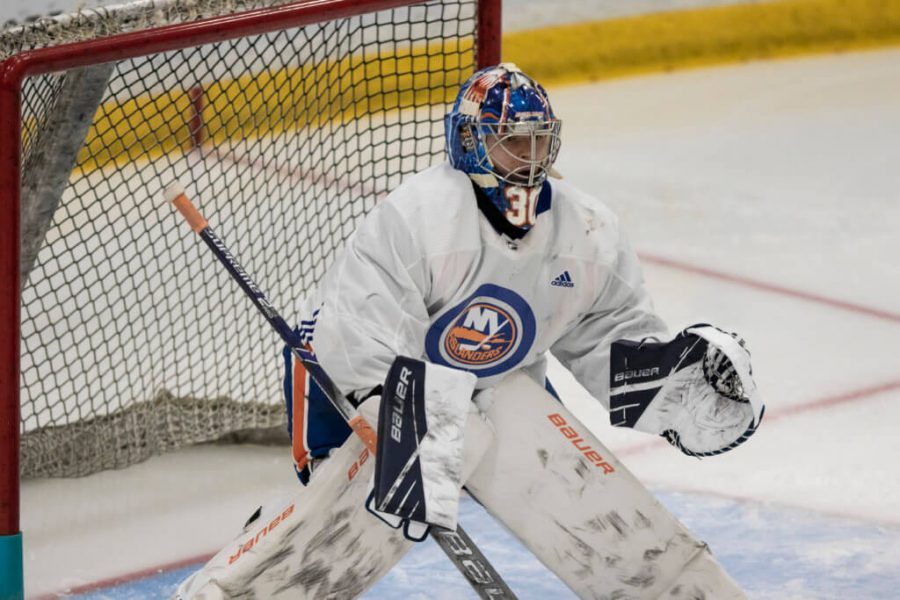 New+York+Islanders+fans+have+been+waiting+since+2014%2C+when+the+team+drafted+him%2C+for+talented+goaltender+Ilya+Sorokin+to+man+the+net.
