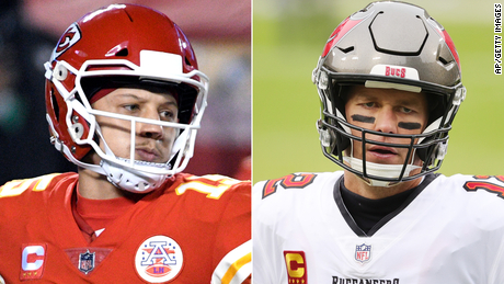 The Torch predicts Patrick Mahomes (left) and the Kansas City Chiefs will win Super Bowl LV in a close game over Tom Brady and the Tampa Bay Buccaneers.