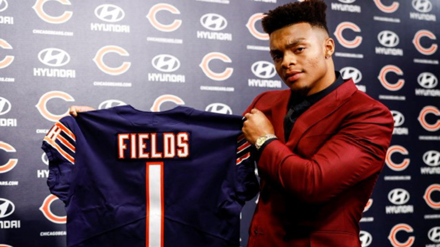 The+Chicago+Bears+made+themselves+winners+in+the+2021+NFL+Draft+when+they+traded+up+to+select+Ohio+State+quarterback+Justin+Fields+with+the+11th+pick+of+the+first+round.