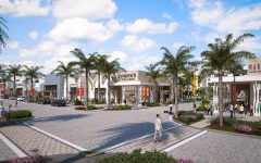 An artist's rendering shows an appealing version of the new Uptown Boca plaza located just east of 441 on Glades Road.