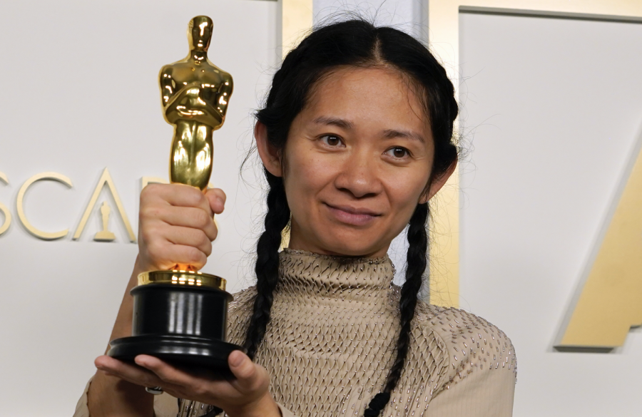 Chloe Zhao is the first woman of color to win an Best Director Academy Award. She won for her film Nomadland.