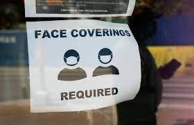 With the CDC easing COVID-19 restrictions, many businesses are still requiring customers to wear face coverings.