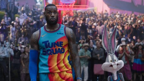 NBA superstar LeBron James stars with Bugs Bunny and other Looney Tunes characters in Space Jam: A New Legacy.