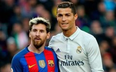 The transfer window saw legends Lionel Messi (left) and Cristiano Ronaldo (right) on the move. Messi went from Barcelona to Paris Saint-Germain, and Ronaldo went from Juventus to Manchester United.