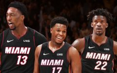 The Miami Heats new big three (from left to right): Bam Adabayo, Kyle Lowry, and Jimmy Butler.